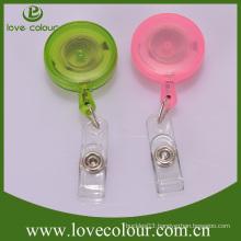 Lovecolour custom 32mm plastic badge pull reel