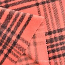 Gefärbter gestreifter Plaid-bedruckter Polar Fleece-Frauenstoff