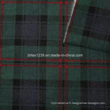 21 Tissus en velours côtelé pour vêtement avec chèque imprimé