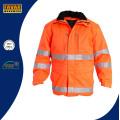 Hi Vis Gepolsterte Winterjacke mit Reflektorband Winter Workwear