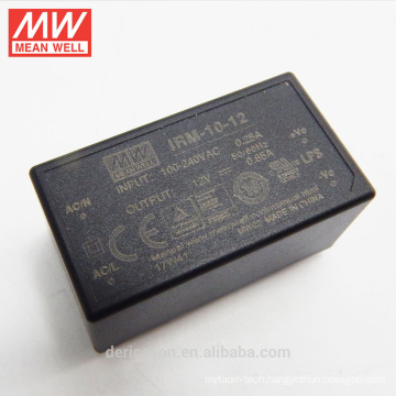 MEAN WELL miniature encapsulated open frame 10W 12V Power Supply IRM-10-12