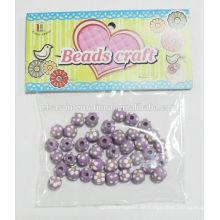 Machen Sie Holzperlen / Chunky Perlen zur Herstellung von Armband und Halskette