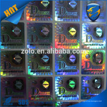 Vente en gros Strong Adhesive Permanent sticky label hologramme personnalisé