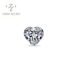 ForeverFlame G H 2.5ct 8.7mm*7.2mm Heart Cut diamond CVD CZ Moissanite proposal ring