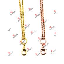 Moda personalizada latón cadena collar de cadena para regalos de recuerdo (BCS50829)