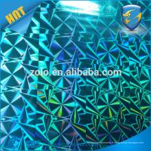 Film hologramme coloré pour autocollant vinyle / Film d'étiquette holographique