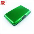 Titular de carteira de cartão de crédito protetor de bloqueio anti-magnético de alumínio impermeável Shell