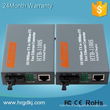 HTB-3100 Connecteur FC Single Converter Netlink 10 / 100m à fibre unique