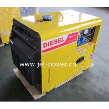 Звукоизоляционный генератор 5kw Молчком портативный Тепловозный комплект генератора