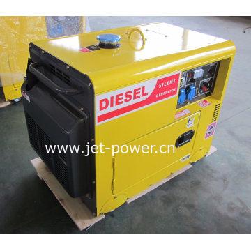 Générateur diesel silencieux refroidi à l'air portatif de 5kw