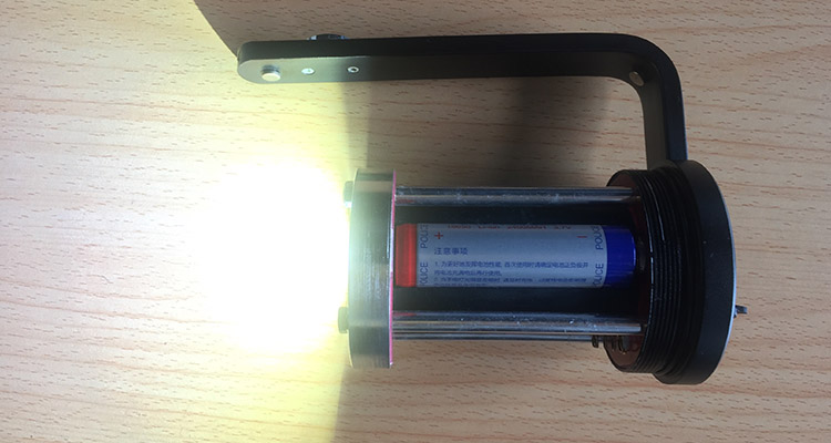 Police use explosion-proof flashlight