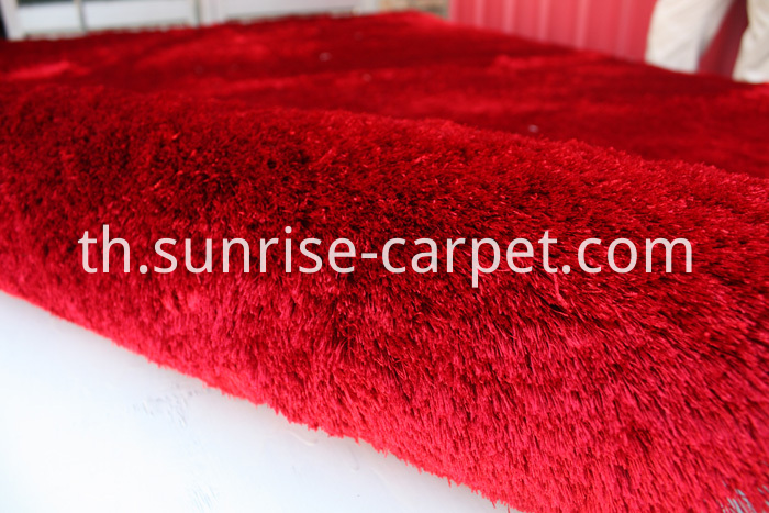 Silk Shaggy Polyester Thin Yarn Red