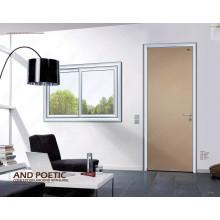 Porte de lit simple en bois, porte intérieure simple de Woodon, portes en aluminium de salle de bains de Slap-up