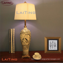 China manufacturer table lamp with white shade art lamps interior decoration