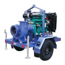 Bomba de agua diesel móvil remolcable de la basura