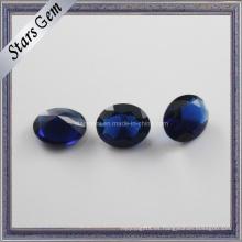 Noble Zafiro Oval forma de diamante cuentas de vidrio