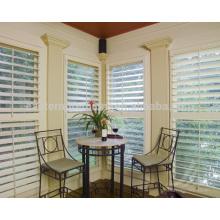 persianas de janela de plantação dobrável bi-fold interior de 89mm removível em basswood