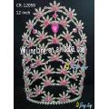 Flower rhinestone crown for sale CR-12059