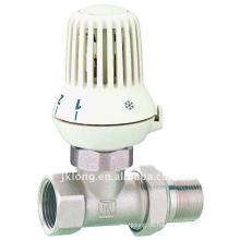 Válvula de radiador termostática recta de latón