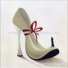 Abstract High Heels Oil Painting On Canvas For Decor