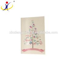 Cartes de voeux de décoration de Noël de partie en vrac, logo adapté aux besoins du client