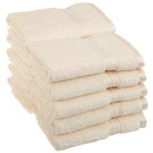 Personnalisé 16 s 21s coton blanc optique 5 étoiles hôtel serviette de sauna