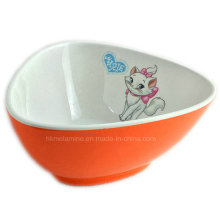 Two Tone Melamine Triangle Salad Bowl with Logo