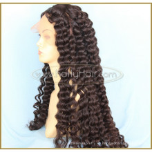 """Negro 26 """"Body Wave Aliexpress peluca llena del cordón del cabello humano brasileño con el pelo del bebé"""