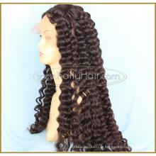 """Noir 26 """"vague de corps Aliexpress perruque de cheveux pleine brésilienne de cheveux humains avec des cheveux de bébé"""