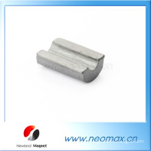 Customized high quality ferrite magnet in arc shape for hot sale