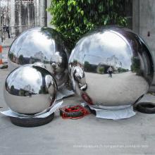 décoration extérieure de jardin 304 boules en acier inoxydable sculpture