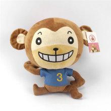 Regalo de promoción de juguete suave animal relleno de juguete de peluche de mono para la venta al por mayor