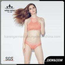 Dame Solid Color Beach Wear Gestrickte Sexy Bikini Dessous