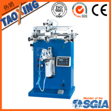 single color round manual screen printing machine for plastic cup/ plastic bottle