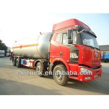 FAW 8 * 4 34.500L lpg camión cisterna, lpg camiones de transporte para la venta