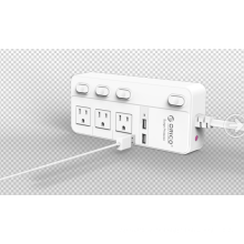 ORICO SPC-S3U2 EE.UU. Socket Power Strip 3 AC 2 USB Surge Protector