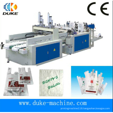 Hot Cutting Bottom Sealing Plastic Shopping Bag Making Machine (DFHQ-350X2)