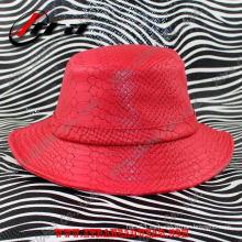 Sombrero unisex del cuero de Snakeskin de la manera