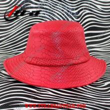 Мода Змеиная кожа Мужская шляпа
