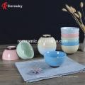 Plateau en céramique premium à la vente en usine, bol de riz en céramique à la pure couleur sur mesure, bol de riz