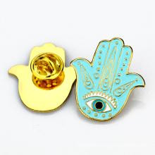 Pin отворотом производитель настройка безопасности металла оптом эмаль руку образные штыри отворотом
