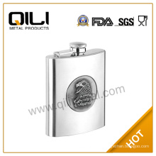 Stainless steel hip flask with logo