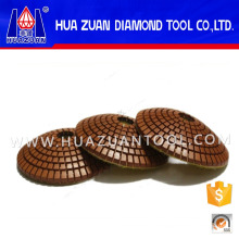 """Premium Grade 4"""" Diamond Convex Polishing Pads For Concave Sinks or Ogee Edges"""