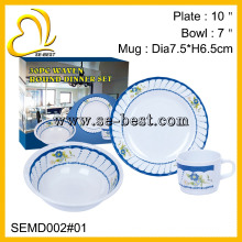30Pcs Melamine Tableware Set
