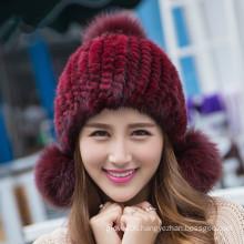 Beautiful Mink Fur Caps /Hats Women Knitted Hats/Caps Women