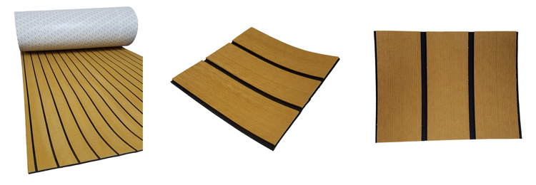 Melors EVA Foam traction Boat Flooring Faux Teak Sheet