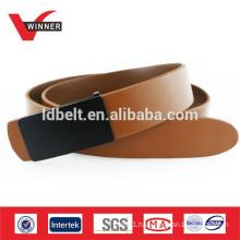 100% real leather mens slide buckle belt