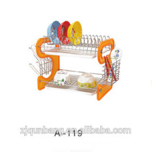 2015 Fashion Beautiful Composite Materials Kitchen Storage Racks Stainless Steel Bowl Rack And Chopsticks Tube