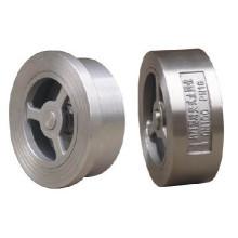 Válvula de retención de oblea de acero inoxidable para uso industrial