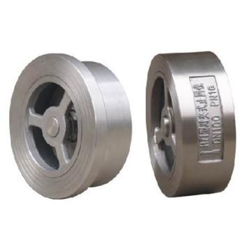Válvula de retenção de bolacha de aço inoxidável para uso industrial